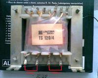 Gdzie przyłożyć 230V do transformatora TS120/4 ?