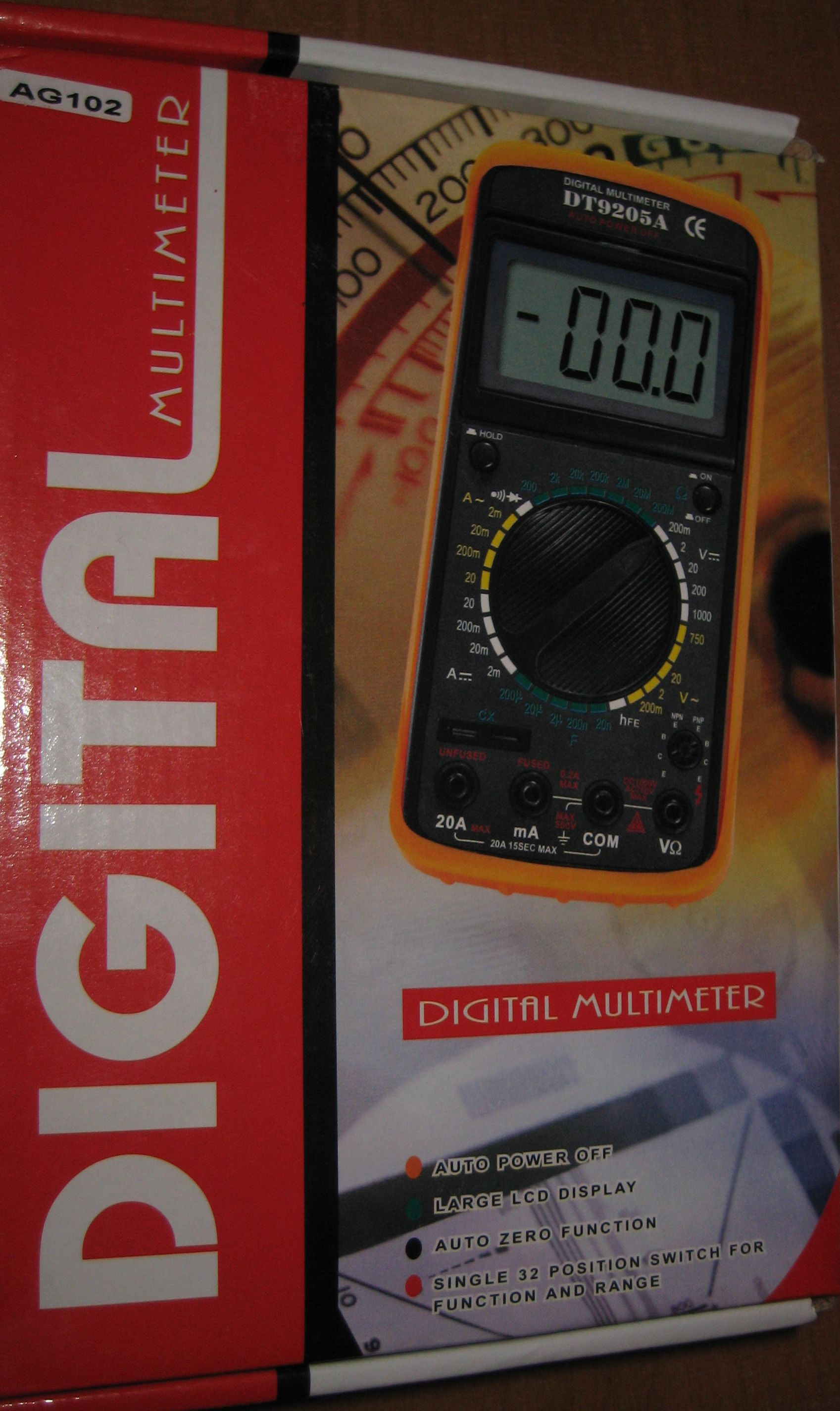 Digital Multimeter DT9205A AG102 instrukcja [ENG]