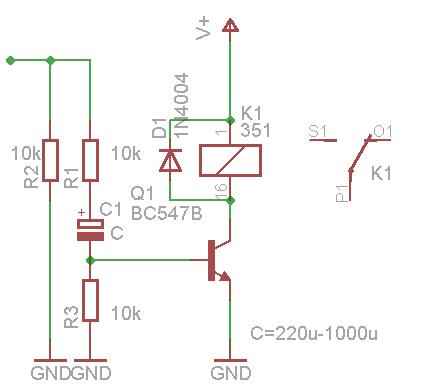 Potrzebny przekaźnik czasowy (1-2s) na 3V