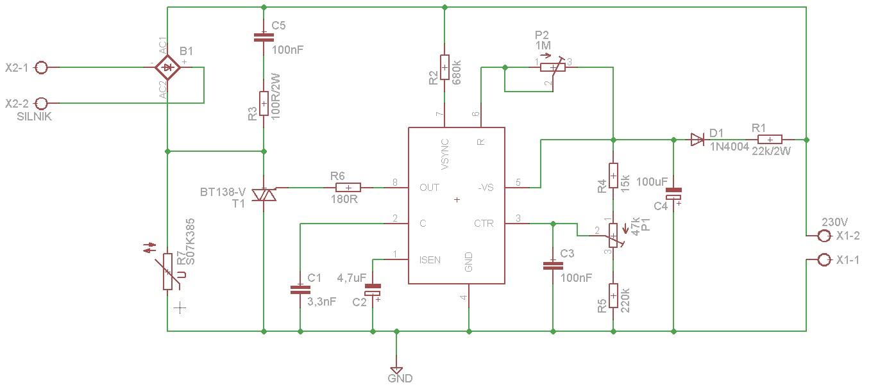 Regulator obrot�w silnika 230V DC