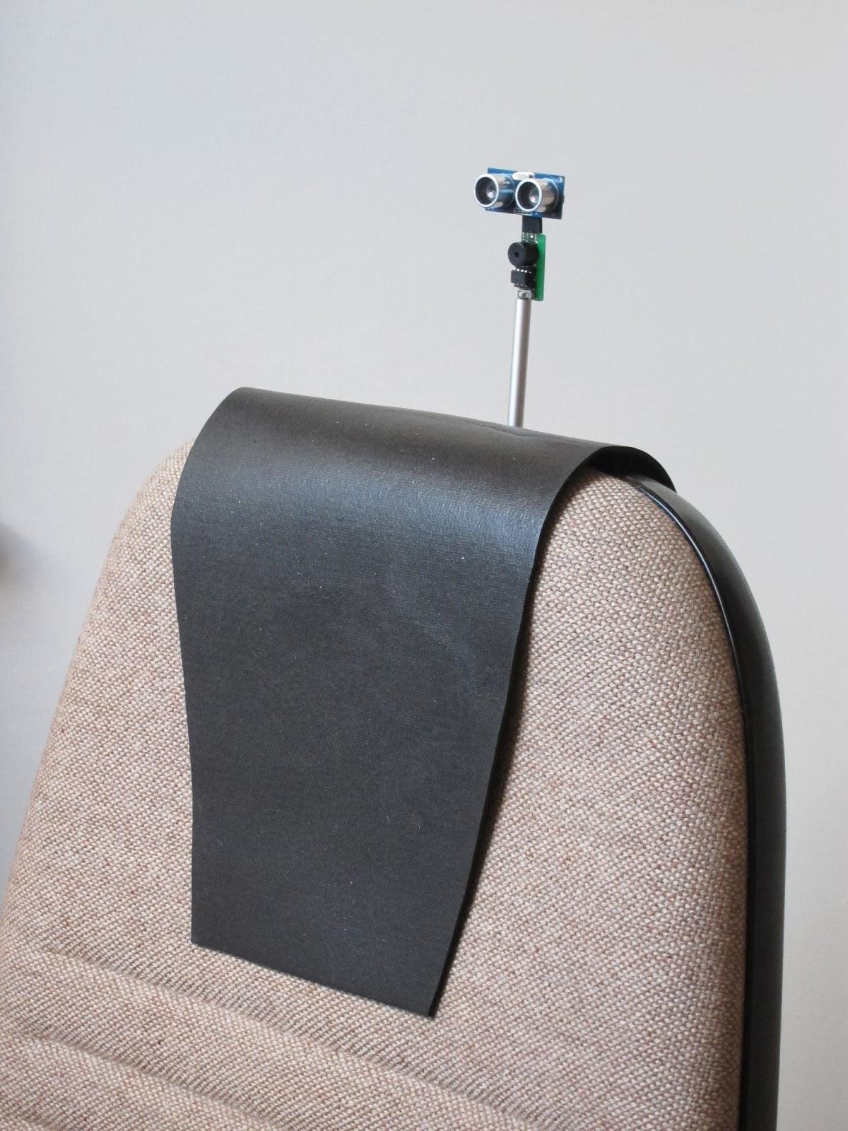 Prosty czujnik mierz�cy poprawno�� u�o�enia kr�gos�upa na fotelu
