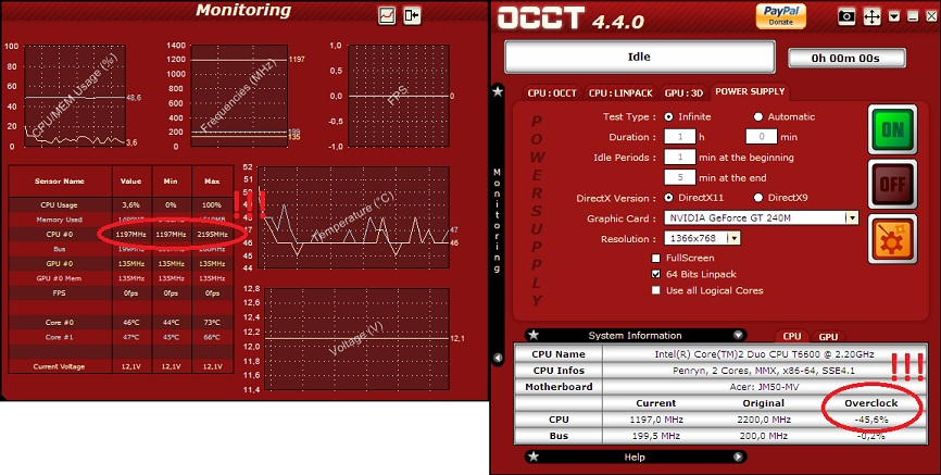 Acer Aspire 5739G - diagnostyka pracy i jej przyspieszenie