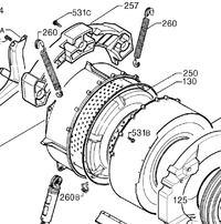 Electrolux EW1266F Założenie przeciwwagi