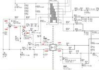 Funai LC5-D32BB/1 - Lawinowe uszkodzenie zasilacza, za niskie napięcia!