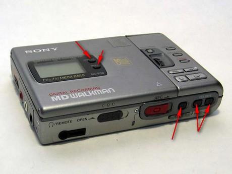 miniDisc SONY MZ-R30 - Nie dzia�aj�ce niekt�re klawisze