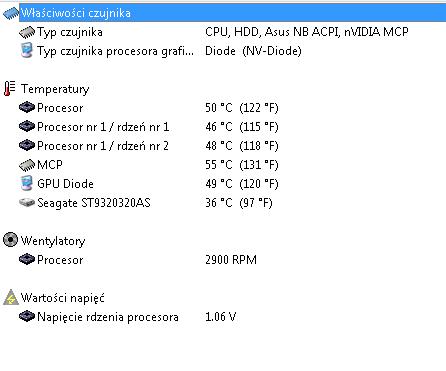 Asus X50GL - grzeje si� mocno + wy�acza si� - foto