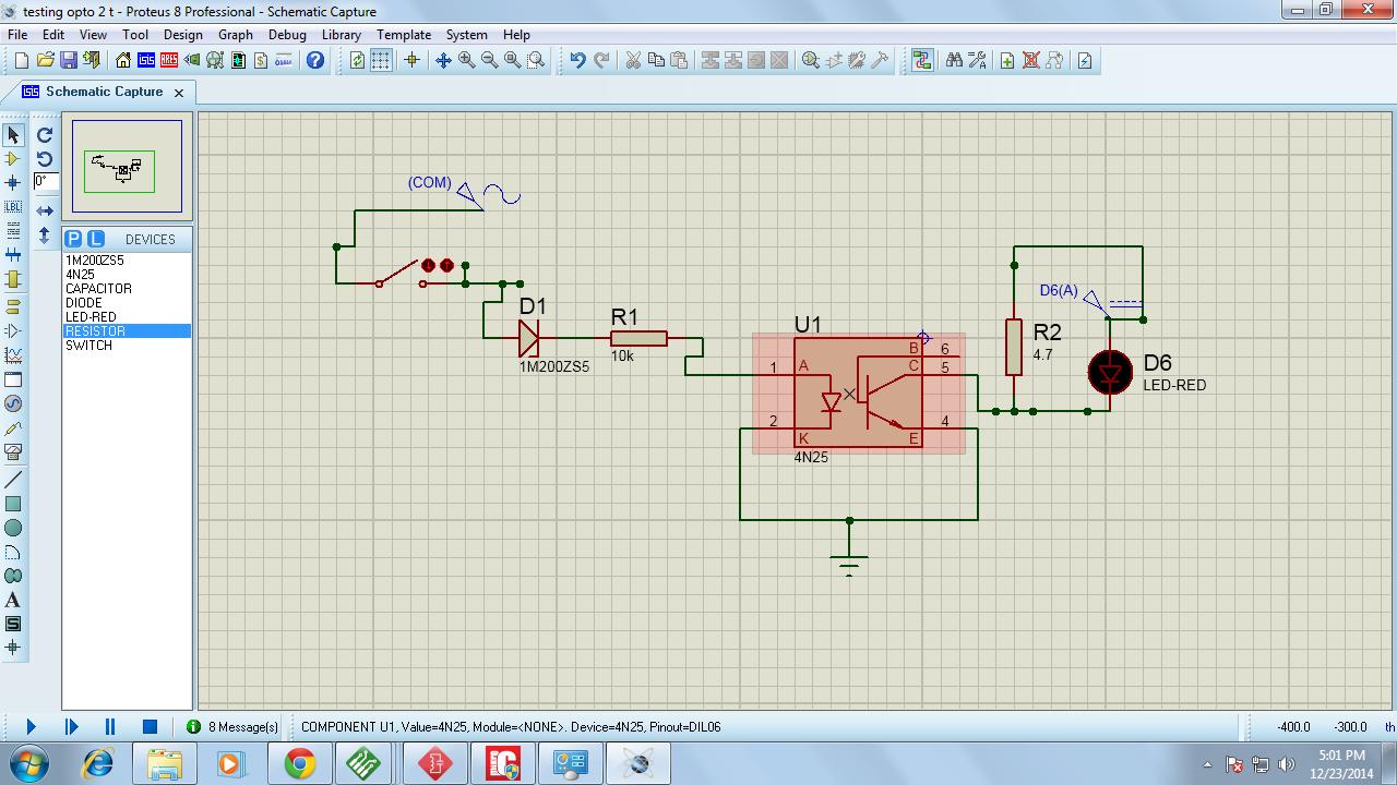 on Optocoupler Pull Up Resistor