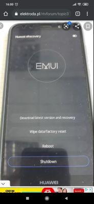 Huawei mate 10 lite pojawia się Erecovery, nic nie działa