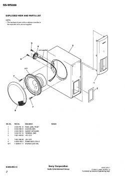 Filtr dolnoprzepustowy do subwoofera Sony SS-WS 300.