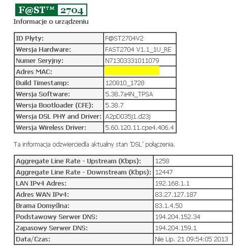 dekoder mediabox nc+ - brak internetu via modem adsl i router d-link dir-635
