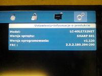 Sharp LC-40LE732E - problemy z uruchomieniem, nie aktualizuje softu