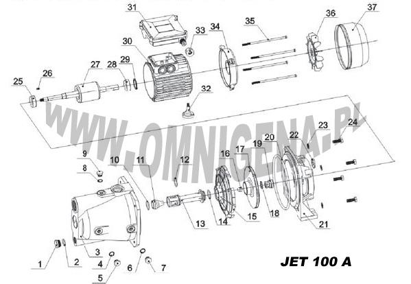 Omnigena Jet100A - Jak rozmontowa� pomp�?