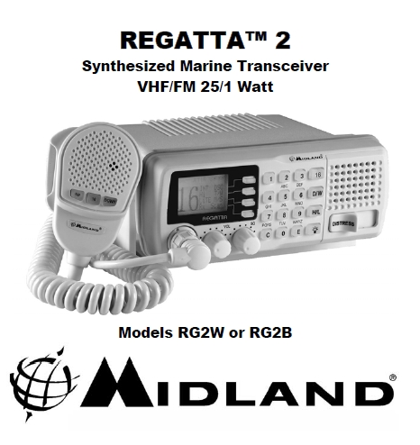 Midland Regatta-2 VHF Marine tranciever Manual EN