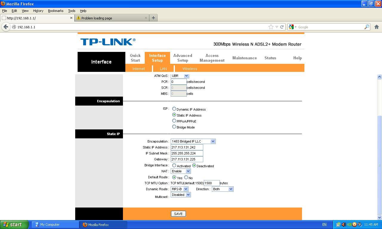 Konfiguracja modemu tp-link