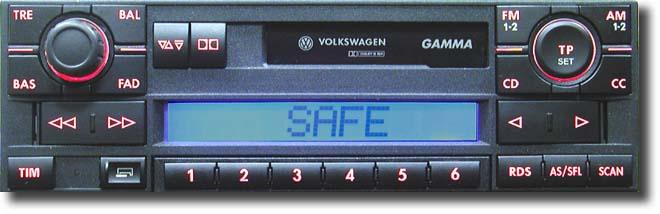 Radio gamma 5 VW GOLF blokada przy wpisywaniu kodu