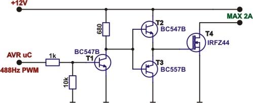 TIP142 - można sterować przez PWM (5V)? Częstotliwość?