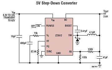 Stabilizator impulsowy. (max 3.5A, do 2.4MHz)