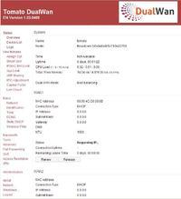 Urządzenie z dwoma portami WAN, DHCP, QoS