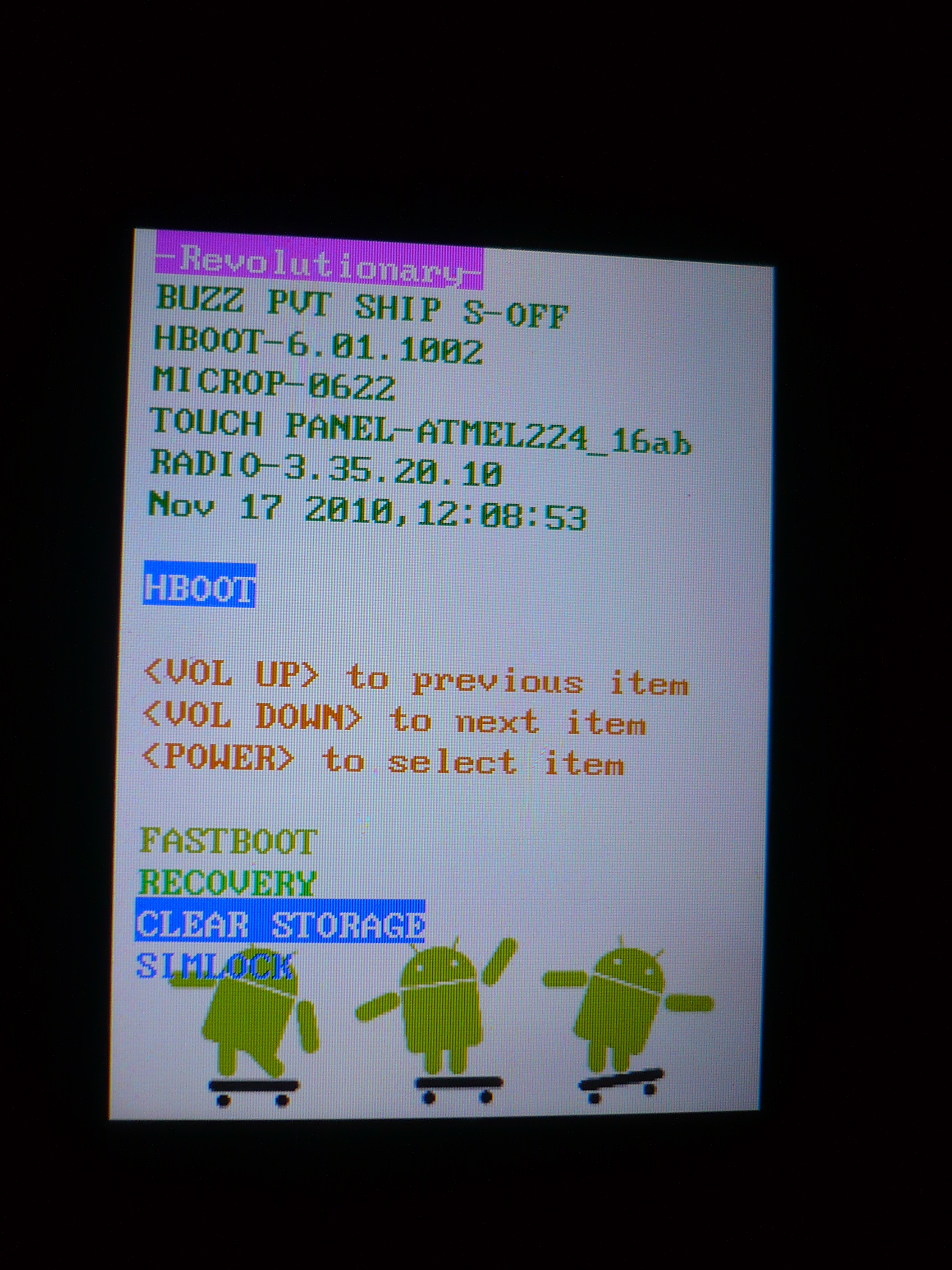 "HTC Wildfire A3333 - s-off ""waiting for fastboot""; root; soft"
