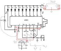 Wskaźnik wysterowania LM3914 - Brak przełączenia trybu.