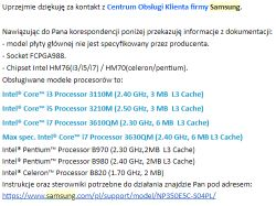 Samsung NP350E5C-S04PL - Nie startuje po wymianie CPU i3-3110M > i7-3610QM