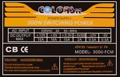 COLORS-IT model: 300U-FCM piszczy na stand-by?