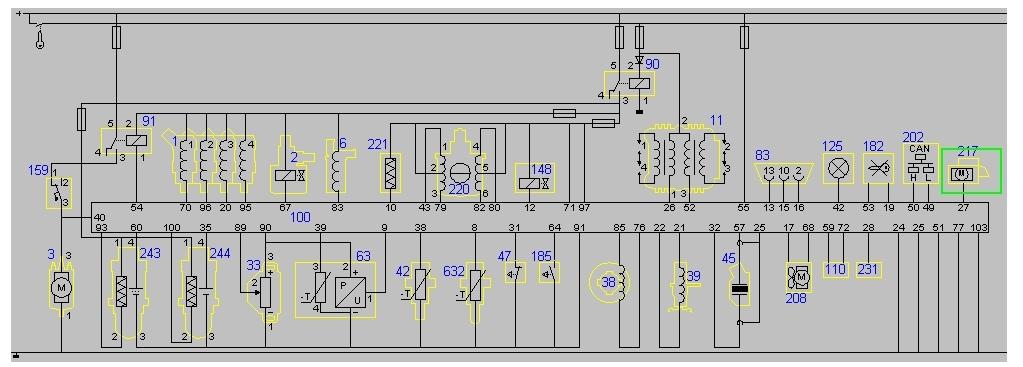 Mondeo Mk3   1,8  - Sterowanie pompy paliwa