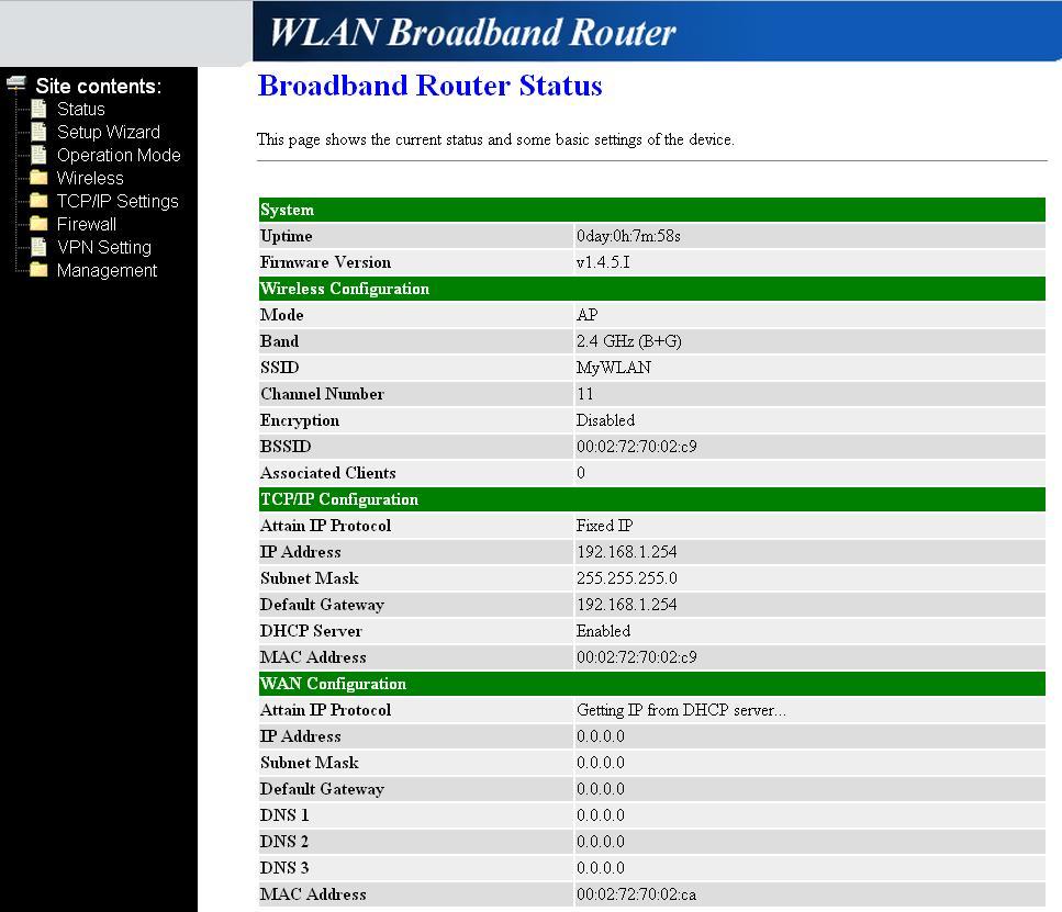 Internet radi�wka konfiguracja routera po resecie