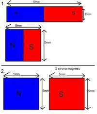 Silnik dc jako prądnica - wymiana magnesów na neodymy