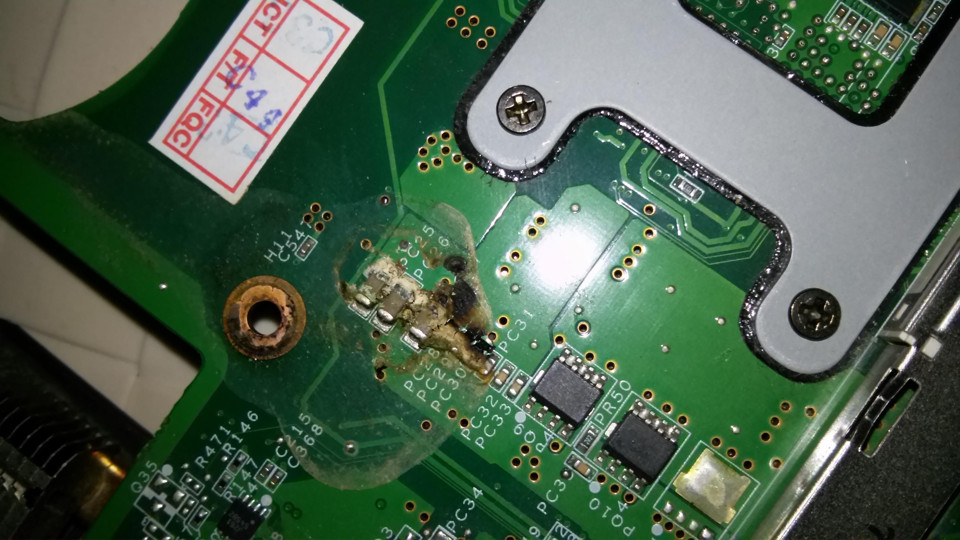 Laptop Benq A52/c41 - nie w��cza si�, �wieci dioda power
