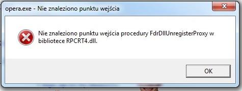 B��d z RPCRT4.DLL podczas otwierania niekt�rych program�w