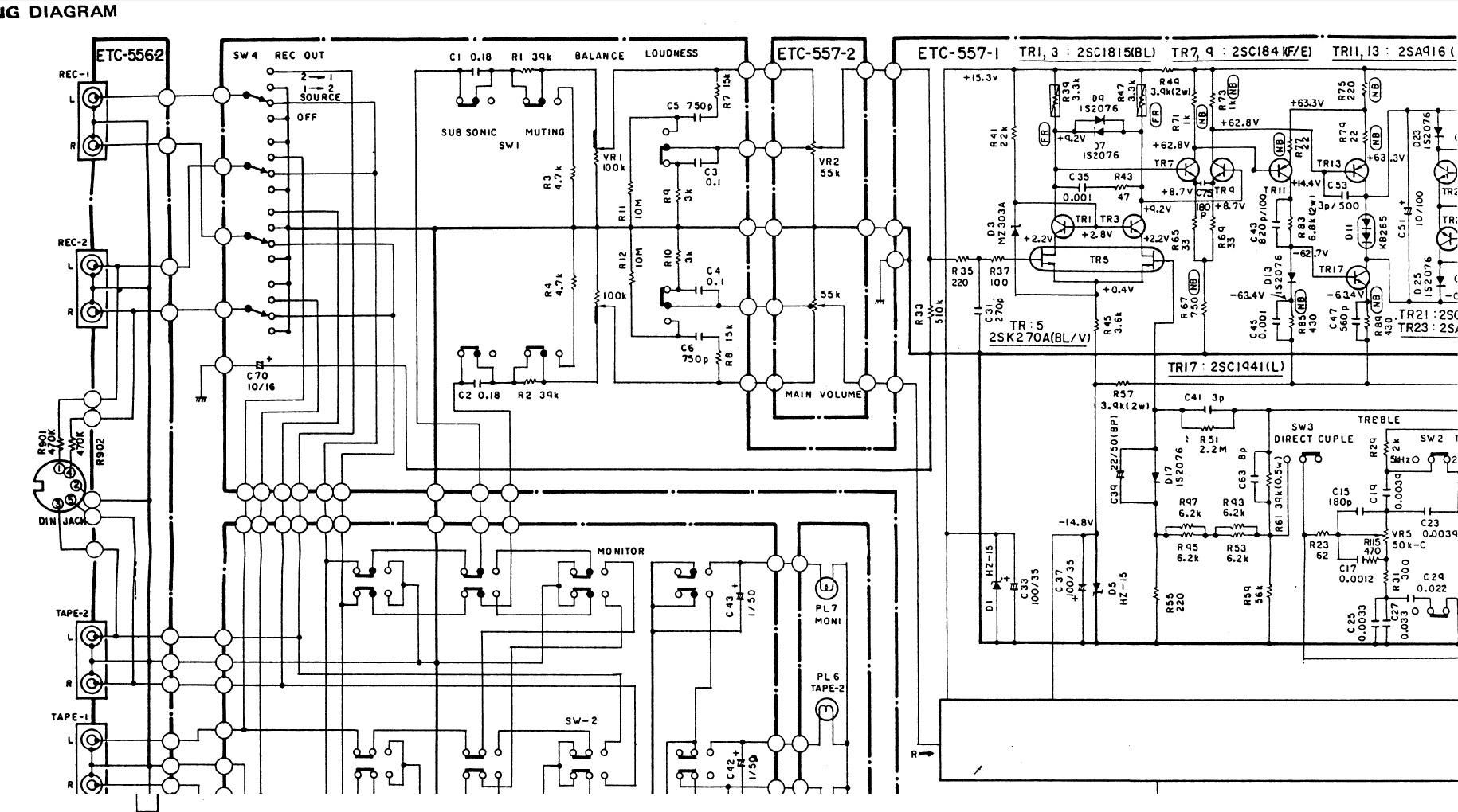 DENON PMA 790 - Z�e napi�cie sta�e na wyj�ciu przedwzmacniacza