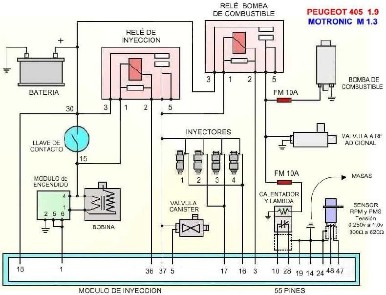 Peugeot 405 mi16 dfw - potrzebuje si� dowiedzie� co to za element na schemacie
