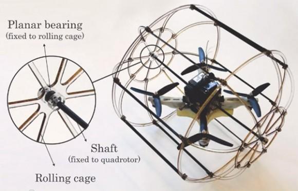 HyTAQ - hybrydowy kwadrokopter poruszaj�cy si� na ziemi i w powietrzu