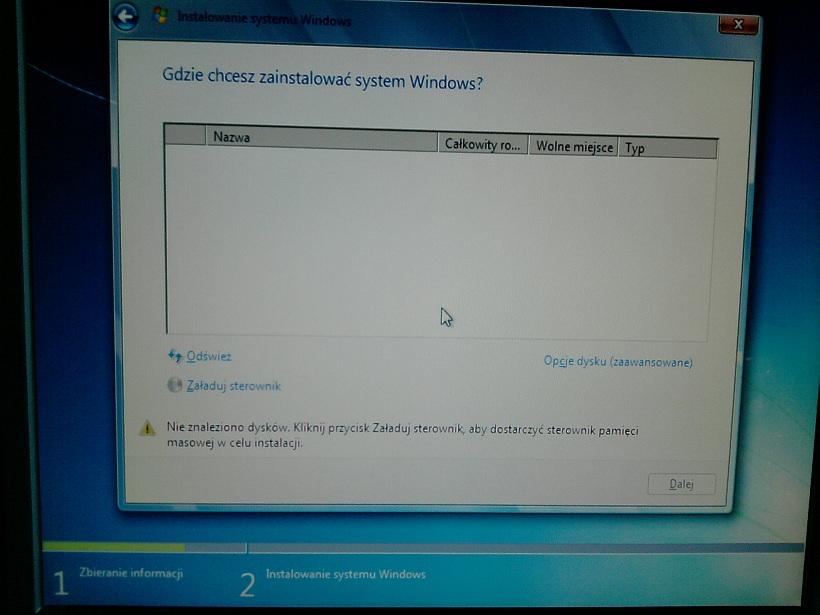 Maxtor Diamontmax  6e040l0 - Instalator Windows 7 nie wykrywa dysku
