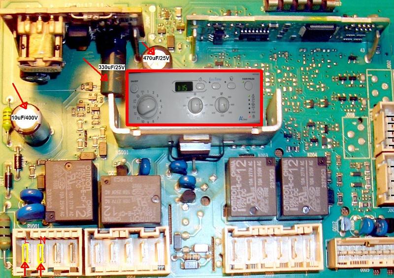Pralka indesit iwd 5085-Nie reaguje na przycisk off-on
