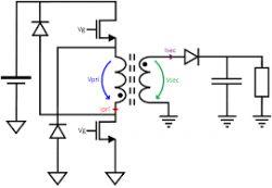 Uzwojenia transformatora FLYBACK - dziwny pomiar indukcyjniości