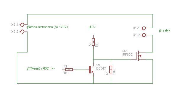 Sterownik grza�ek bateria s�oneczna - Uszkodzony tranzystor