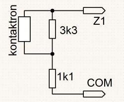 Podłączenie kontaktronu do alarmu ELMES CBP32S.
