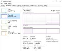 Ile pamięci RAM zjada wam system w windows 10 ?