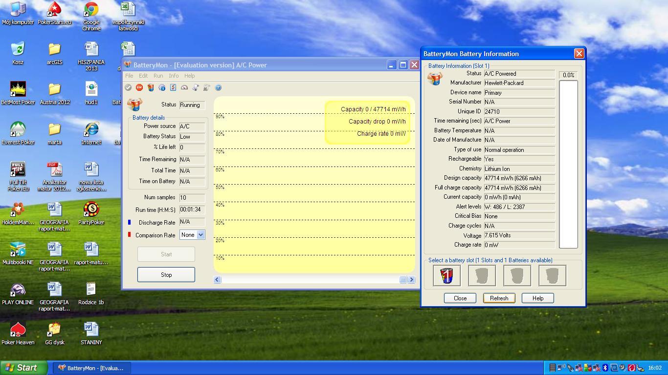 �adowanie baterii w laptopie HP (wykrywa, ale nie �aduje)