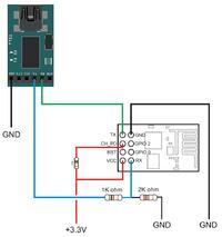 Odbiór danych po wifi przez ESP8266 + ATmega1284