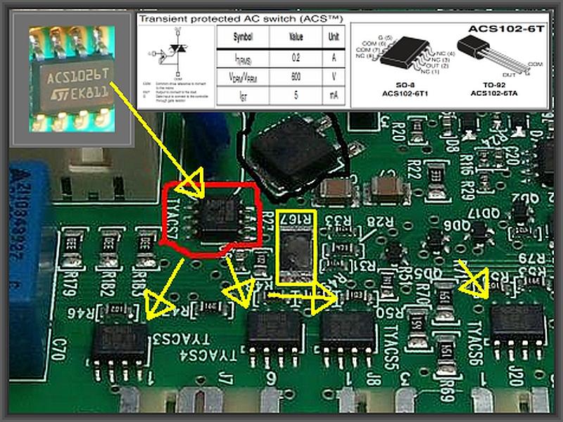 Elctrolux EWW1486HDW - Uszkodzony moduł, a na nim układ scalony