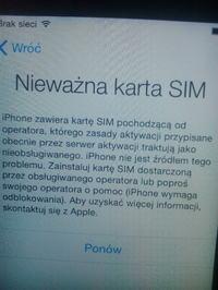 Aktywowanie Iphone 4s z simlockiem