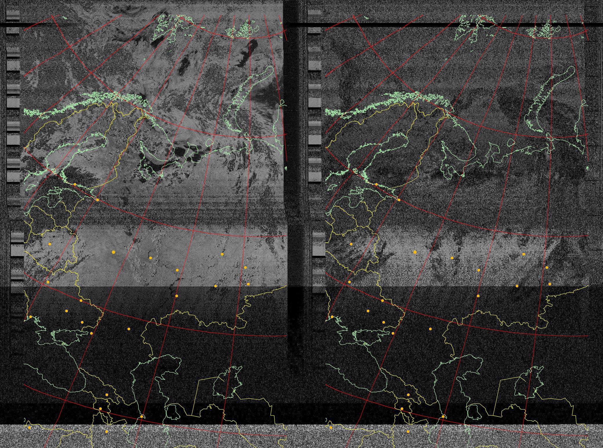 Radio do przystawki NOAA. Dlaczego niekt�re mapy s� kolorowe? Program pod linuxa
