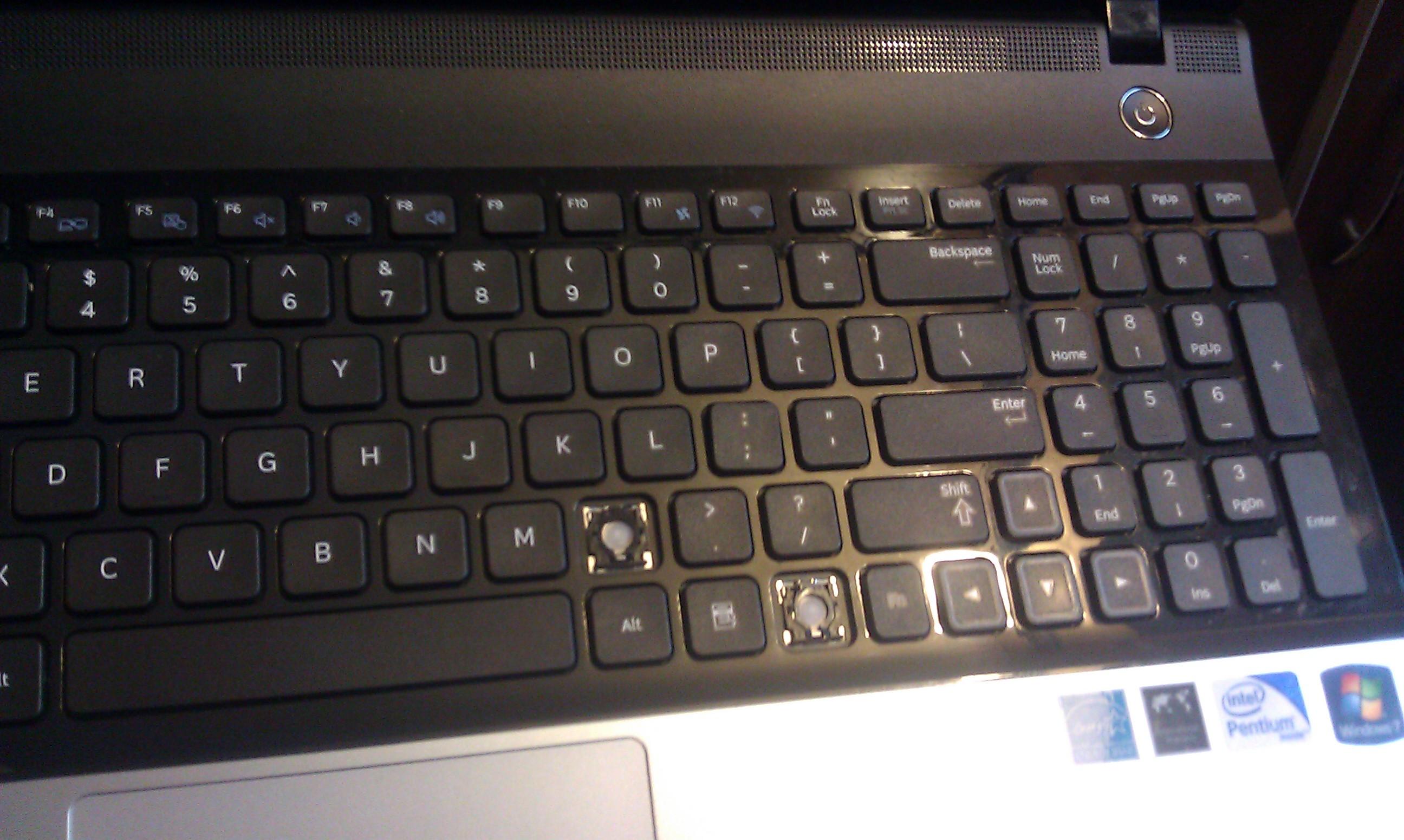 Samsung NP300 - Wymiana klawiatury
