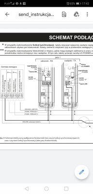 Podłączenie fotokomórek slim flash do Faac 455