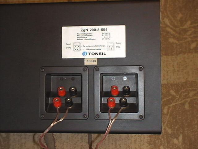 Sub Tonsil ZGN 200-8-594 - jakie kable do podłączenia z SONY STR-D365