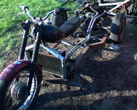 Motocykl SAM z silnikem z malucha...