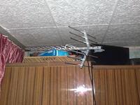 Antena siatkowa i kierunkowa w połączeniu